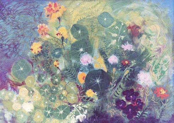 Trudy Storace -   Nasturtiums and Marigolds