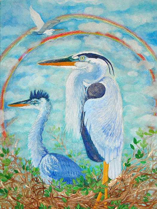 Ashleigh Dyan Moore - Great Blue Herons Seek Freedom