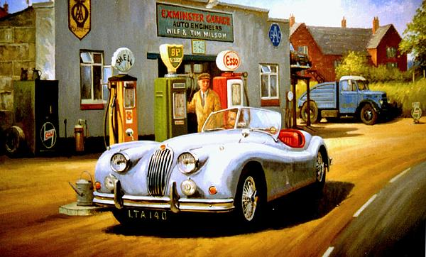 Mike  Jeffries - Jaguar XK 140