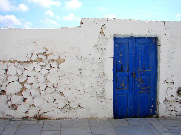 Ana Maria Edulescu - Blue Door In Santorini