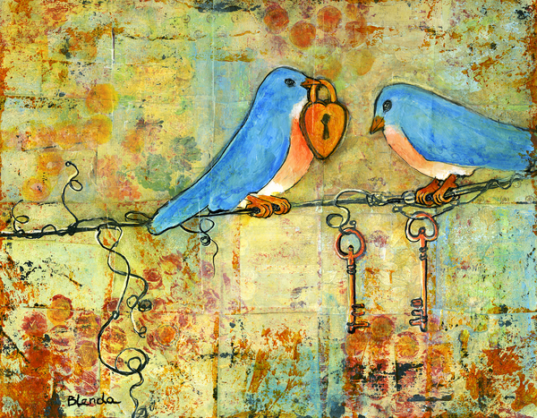 Blenda Tyvoll - Bluebird Painting - Art Key to My Heart