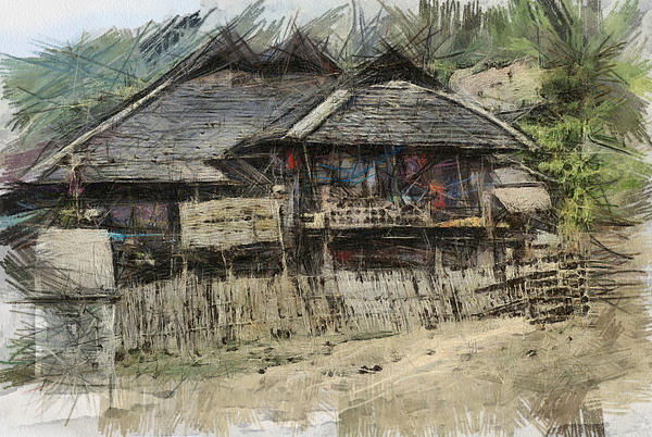 Fran Woods - Burmese village house 2
