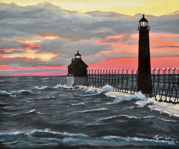 Lynn Huttinga - Grand Haven pier sunset