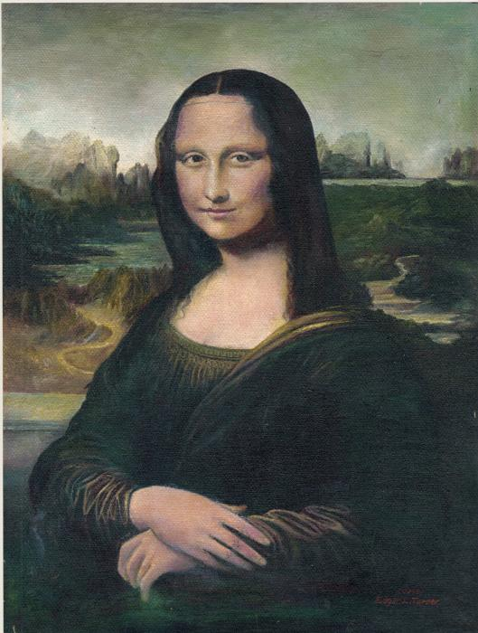 Anne-Elizabeth Whiteway - Mona Lisa Canvas Reproduction