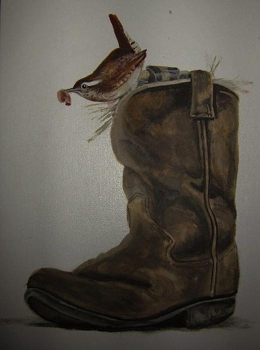 Charlie Mumah - SOLD-Original Carolina Wren