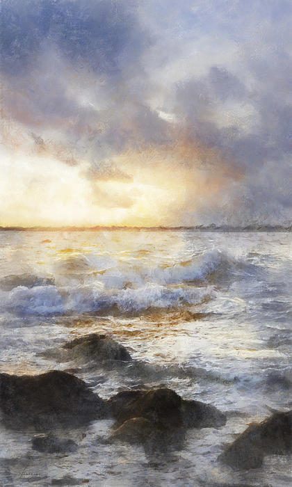 Francesa Miller - Storm Waves at Sunset