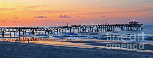 Bob and Nancy Kendrick - Sunrise at Cherry Grove Pier Panorama