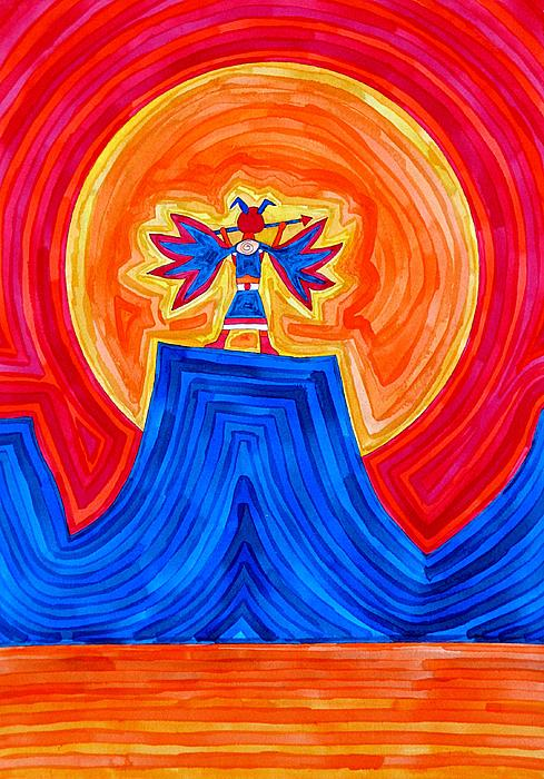 Sol Luckman - Thunderbird original painting