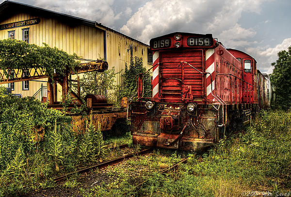 Mike Savad - Train - Engine - 8159 Parked