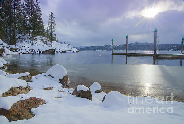 Idaho Scenic Images Linda Lantzy - Winter Shore