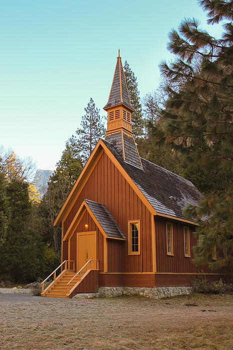 Heidi Smith - Yosemite Chapel And Half Dome