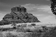 Bell Rock In Monochrome Fine Art Print by Randy Bayne