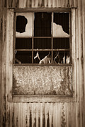 Hangers In The Window Fine Art Print by Randy Bayne