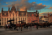 Louise Heusinkveld - Markt Square at dusk in...