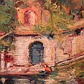 R W Goetting - Blue door to the water