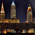 Frozen in Time Fine Art Photography - Cleveland Skyline at...