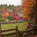 Jeff Folger - Fall foliage over a red...
