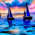 Anthony Caruso - Sailing at Sunset