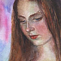 Svetlana Novikova - Young woman watercolor...