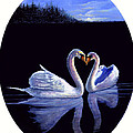 Bonnie Cook - Kissing Swans