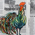 Janice Rae Pariza - A Well Read Rooster
