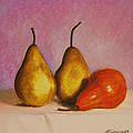 Marna Edwards Flavell - 3 Pears on a Table