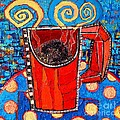Ana Maria Edulescu - Abstract Hot Coffee In...