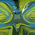 Ben and Raisa Gertsberg - Abstract Owl Portrait
