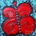 Ana Maria Edulescu - Abstract Red Happy...