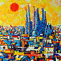 Ana Maria Edulescu - Abstract Sunset Over...