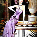 The Creative Minds Art and Photography - Art Deco Lady in Purple