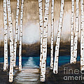 Cheryl Hymes - Aspens in the Moonlight