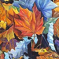 Carol Wisniewski - Autumn Leaves of Red and...