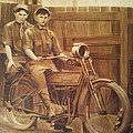 The Vintage Painter - Backyard Bikers by The...