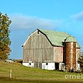 Bob Newland - Barn With Tile Silo