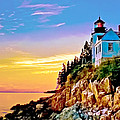 Bob and Nadine Johnston - Bass Harbor Light Acadia...
