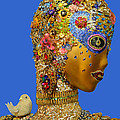 Lauren Hunter - Bead Bird iin Blue