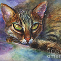 Svetlana Novikova - Bengal Cat watercolor...