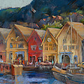 Joan  Jones - Bergen Bryggen in the...