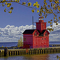 Randall Nyhof - Big Red Lighthouse by...