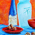 Tricia Lesky - Blue Bottle and Walnuts