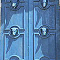 Christiane Schulze - Blue Door Decorated With...