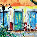 Cristiana Marinescu - Blue doors with bicycle