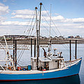 Laura Duhaime - Blue Fishing Boat in the...