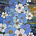 AmaS Art - Blue flowers path