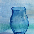 Debbie Portwood - Blue Glass vase