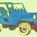 Christy Brammer - Blue Jeep