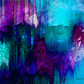 Ann Powell - Blue Rain  abstract art