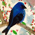 Renee Michelle Wenker - Bluebird Amid Apple...