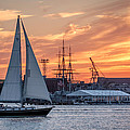 Laura Duhaime - Boston Harbor Sunset